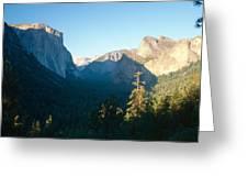 Tunnel View Yosemite Valley California Greeting Card