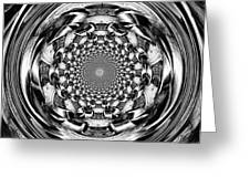 Tunnel Vision-black And White Greeting Card