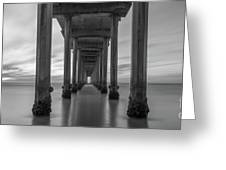 Tunnel Vision Bw  Greeting Card