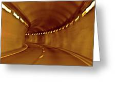Tunnel Vision Daze  Greeting Card