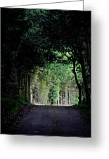 Tunnel Vision Greeting Card by Odd Jeppesen
