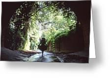 Tunnel Walk Greeting Card