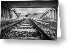 Tunnels And Tracks Greeting Card