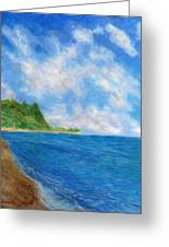 Tunnels Beach Sky Greeting Card