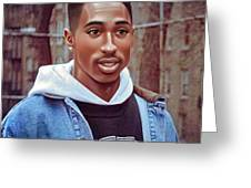 Tupac Shakur Drawing Greeting Card