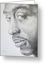Tupac Shakur Greeting Card by Stephen Sookoo
