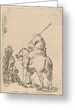 Turbaned Soldier On Horseback Greeting Card