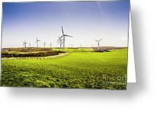 Turbine Fields Greeting Card