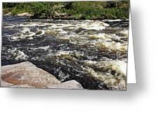 Turbulent Dalles Rapids Greeting Card