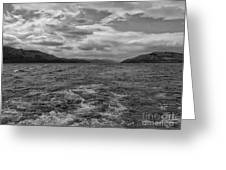 Turbulent Loch Ness In Monochrome 2 Greeting Card