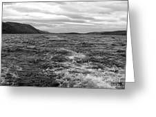 Turbulent Loch Ness In Monochrome Greeting Card