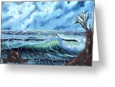 Turbulent Sea Greeting Card
