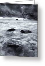Turbulent Seas Greeting Card by Mike  Dawson
