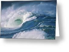 Turbulent Shorebreak Greeting Card