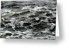 Turbulent Water Near The Shore Greeting Card