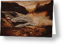 Turbulent Waters Greeting Card