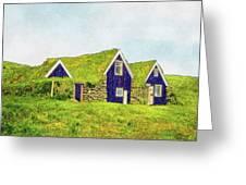 Turf Huts In Skaftafell Greeting Card