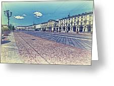 Turin, Square Vittorio. Greeting Card