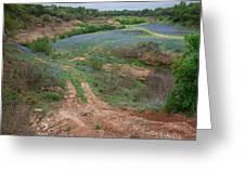 Turkey Bend Park Texas Rough Road Greeting Card
