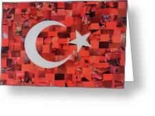 Turkey Flag Greeting Card