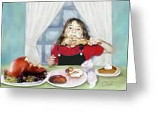 Turkey Girl Greeting Card