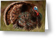 Turkey In The Straw Greeting Card