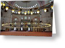 Turkey, Instabul Mosque  Greeting Card