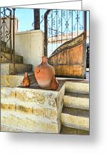 Turkish Doorway With Urns Greeting Card