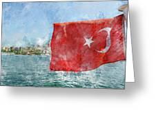 Turkish Flag Greeting Card