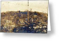 Turn Of The Century Dyckman Street Panorama Greeting Card