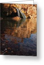 Turner Falls Autumn Reflections Greeting Card