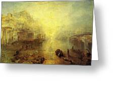 Turner Joseph Mallord William Ancient Italy Ovid Banished From Rome Joseph Mallord William Turner Greeting Card
