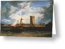 Turner Joseph Mallord William Tabley The Seat Of Sir Jf Leicester Joseph Mallord William Turner Greeting Card