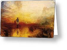Turner Joseph Mallord William The Exile And The Snail Joseph Mallord William Turner Greeting Card