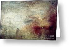 Turner: Sun Setting, C1840 Greeting Card