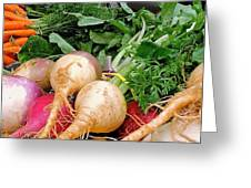 Turnips And Carrots Greeting Card