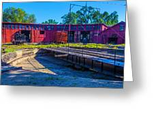 Turntable At Roundhouse Greeting Card