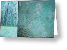 Turquoise Textures Greeting Card