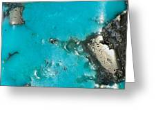 Turquoise And Gold Greeting Card