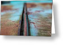 Turquoise And Rust Abstract Greeting Card