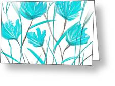 Turquoise Bloom Greeting Card