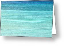 Turquoise Blue Carribean Water Greeting Card