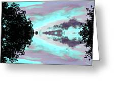 Turquoise Diamonds In The Sky Greeting Card