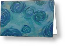 Turquoise Flora Greeting Card