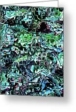Turquoise Garden Of Glass Greeting Card