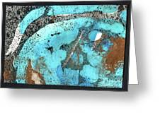 Turquoise Gold Pond 1 Greeting Card