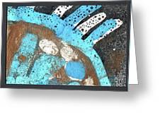Turquoise Gold Pond 2 Greeting Card