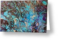 Turquoise Intrigue Greeting Card