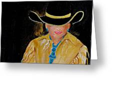 Turquoise Lady 3 Greeting Card