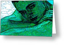 Turquoise Man Greeting Card